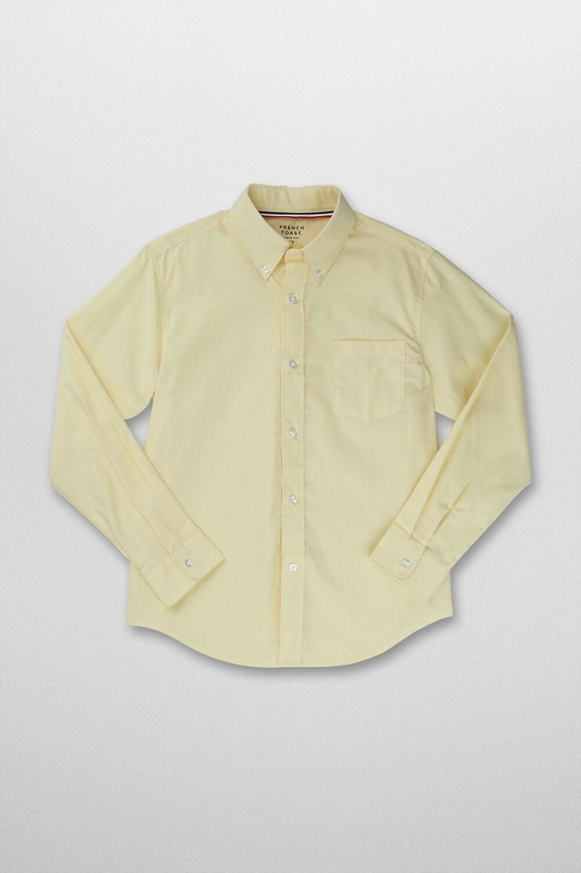 Yellow button-down shirt